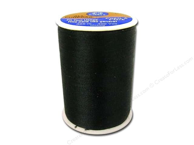 Coats & Clark All Purpose Polyester Thread 400 yd. Black