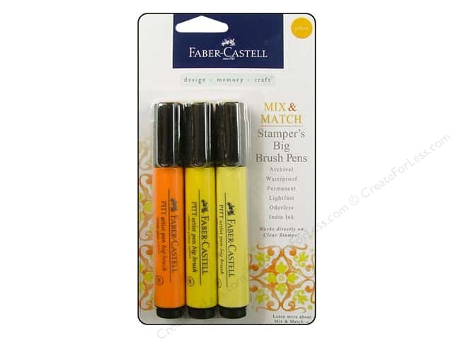FaberCastell Stamper's Big Brush Pen Mix & Match Set Yellow