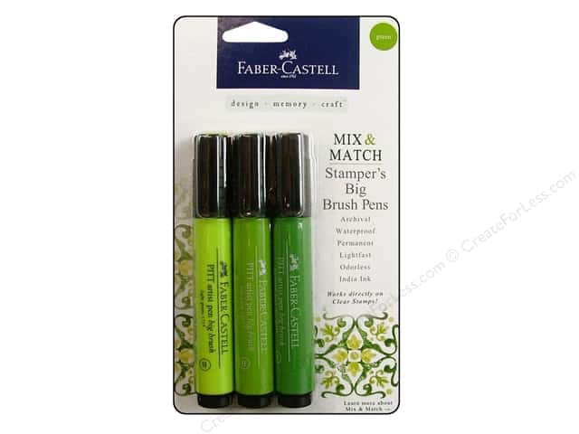 FaberCastell Stamper's Big Brush Pen Mix & Match Set Green