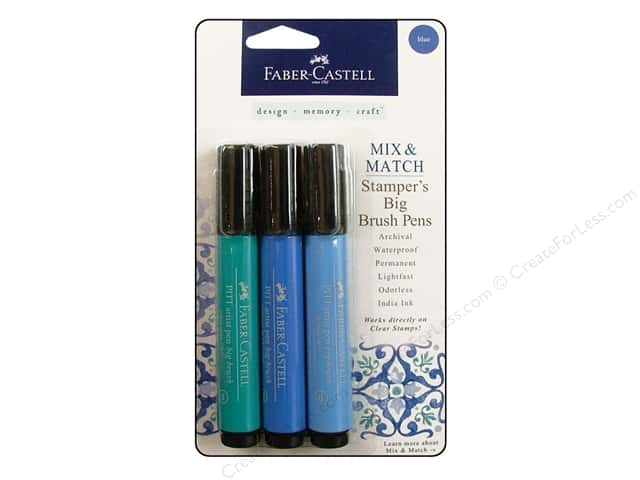 FaberCastell Stamper's Big Brush Pen Mix & Match Set Blue