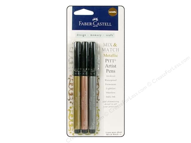 FaberCastell Pitt Artist Pen Mix & Match Set Metallic Classic