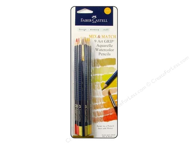 FaberCastell Art GRIP Aquarelles Watercolor Pencil 9 pc. Yellow