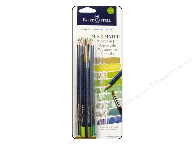 FaberCastell Art GRIP Aquarelles Watercolor Pencil 9 pc. Green
