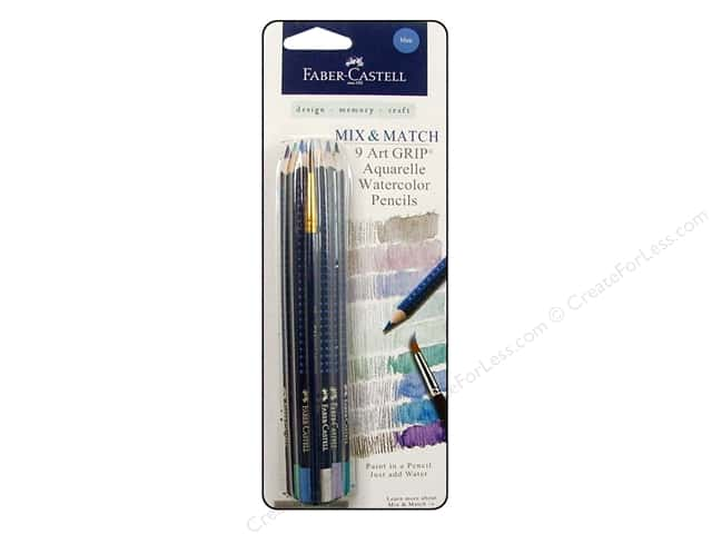 FaberCastell Art GRIP Aquarelles Watercolor Pencil 9 pc. Blue