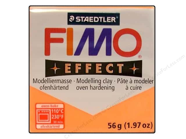 Fimo Soft Clay 2 oz. Transparent Orange