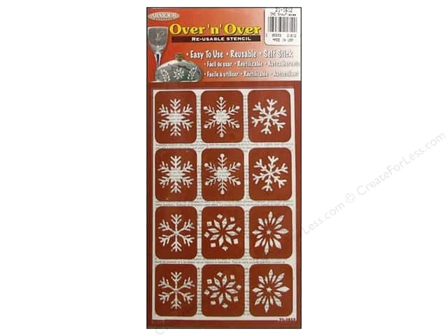 Armour Over 'N' Over Stencil Snowflakes