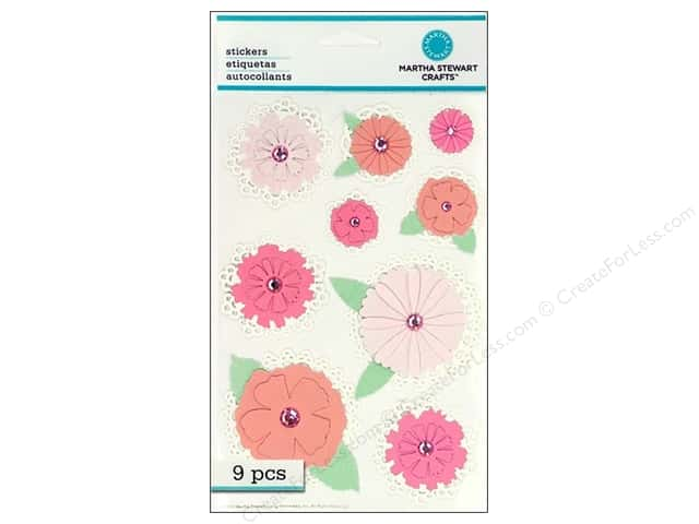 Martha Stewart Sticker Doily Tag Flower
