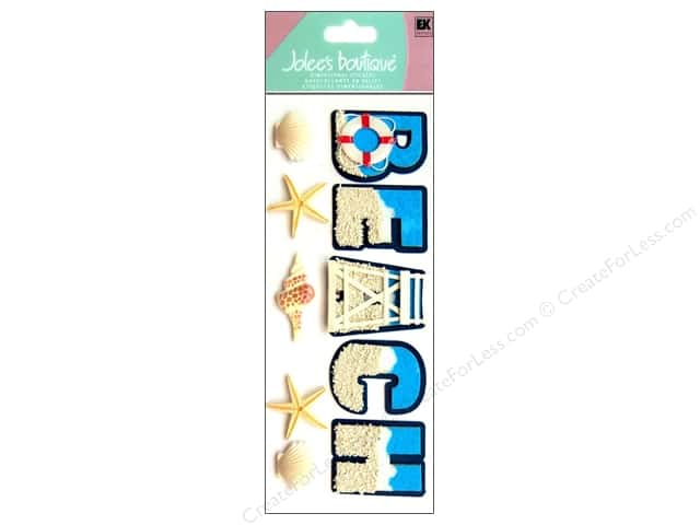Jolee's Boutique Title Stickers Beach and Shells