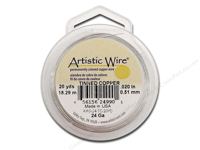 Artistic Wire 24 ga. Copper Wire 20 yd. Tinned
