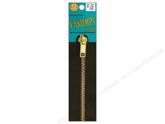 Coats Fashion Brass Separating Zipper 24 in. Cloister Brown