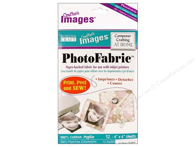 Blumenthal Crafter's Images PhotoFabric 4 x 6 in. Cotton Poplin 12 pc.