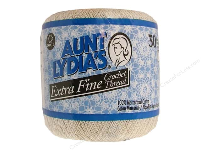 Aunt Lydia's Extra Fine Crochet Thread Size 30 #226 Natural