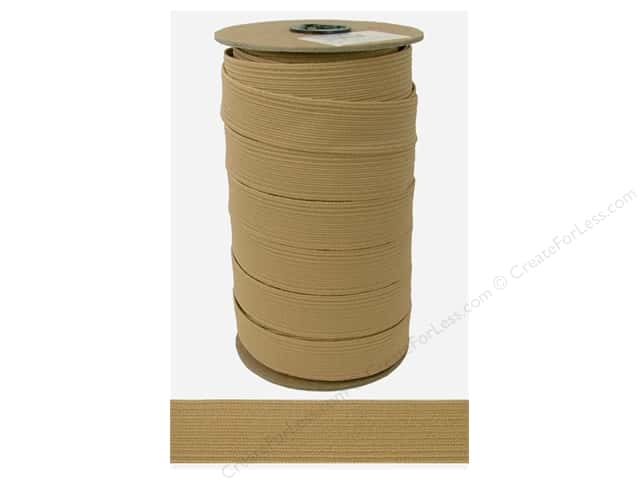 Conrad Jarvis Braided Flat Elastic 1 in x 36 yd Beige (36 yards)