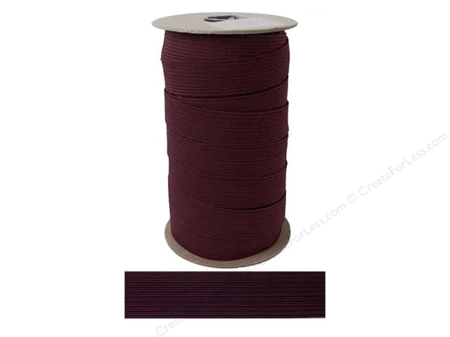 Conrad Jarvis Braided Flat Elastic 1 in x 36 yd Maroon (36 yards)