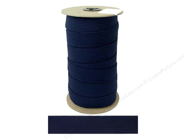 Conrad Jarvis Braided Flat Elastic 1 in. x 36 yd Light Navy (36 yards)