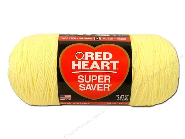 Red Heart Super Saver Jumbo Yarn #0322 Pale Yellow 744 yd.
