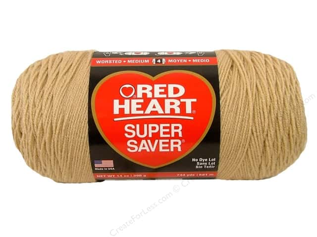 Red Heart Super Saver Jumbo Yarn 744 yd. #334 Buff