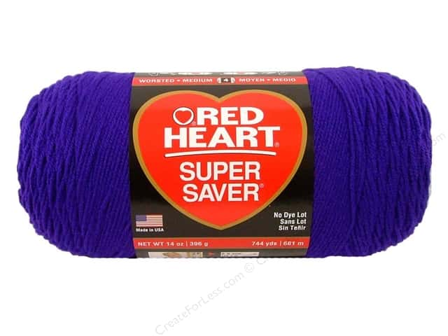 Red Heart Super Saver Jumbo Yarn #0356 Amethyst 744 yd.