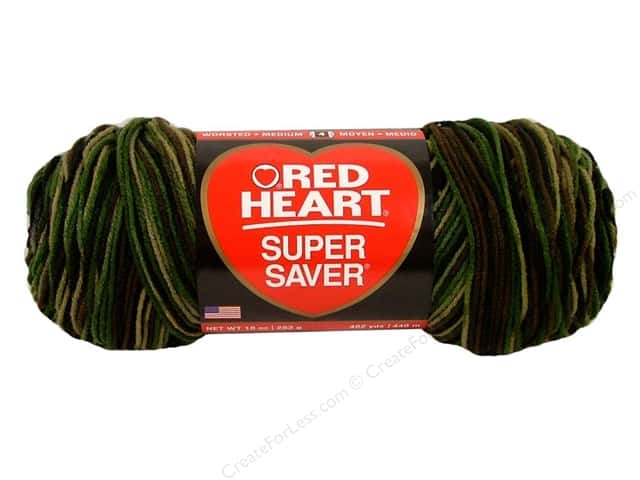 Red Heart Super Saver Jumbo Yarn #0971 Camouflage 482 yd.