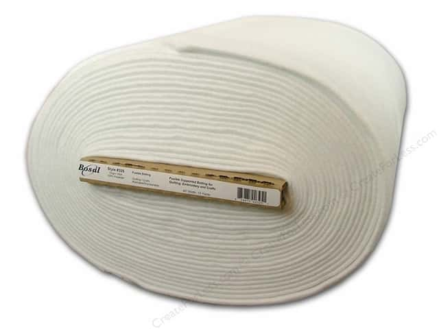 Bosal Fusible Batting 45 in. x 15 yd. Polyester 6.75 oz. White (15 yards)