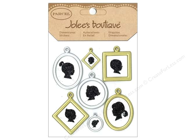 Jolee's Boutique Stickers Parcel Framed Silhouettes