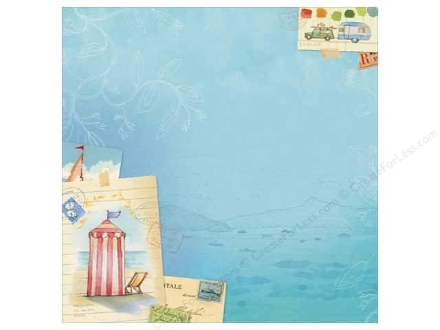 K&Company 12 x 12 in. Paper Brenda Walton Around The World Collection Glitter Vacation (12 sheets)