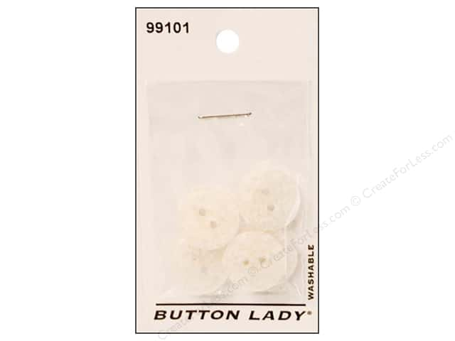 JHB Button Lady Buttons 5/8 in. White #99101 5 pc.