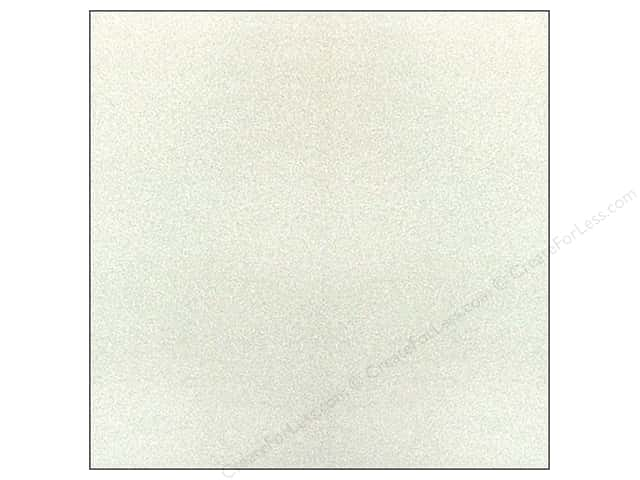 American Crafts 12 x 12 in. Paper Pow Glitter Solid Silver (15 sheets)