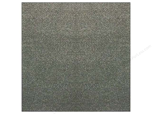 American Crafts 12 x 12 in. Paper Pow Glitter Solid Charcoal (15 sheets)