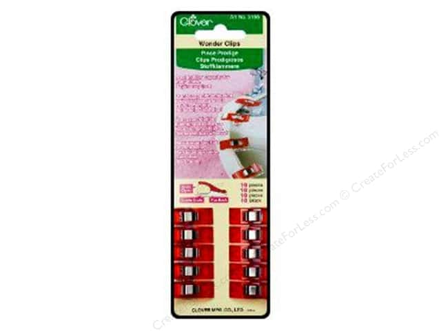 Clover Wonder Clips 10 pc. Red