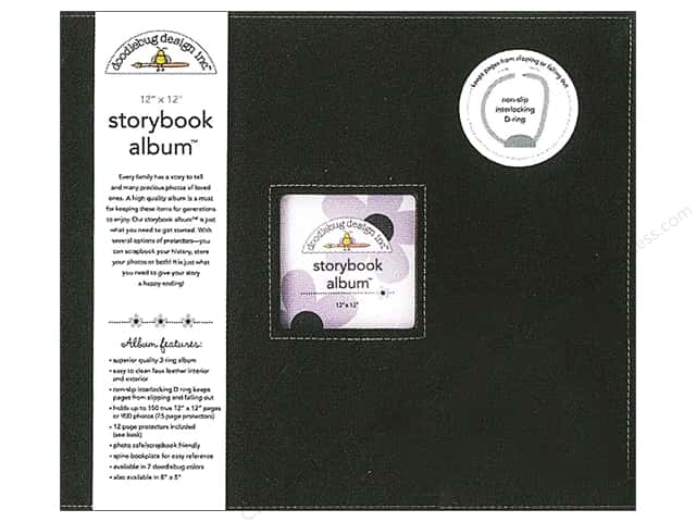 Doodlebug 12 x 12 in. Storybook Album Beetle Black