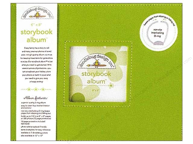 Doodlebug 8 x 8 in. Storybook Album Limeade