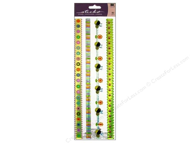 EK Sticko Stickers Epoxy Border Spring Is In The Air Ribbon