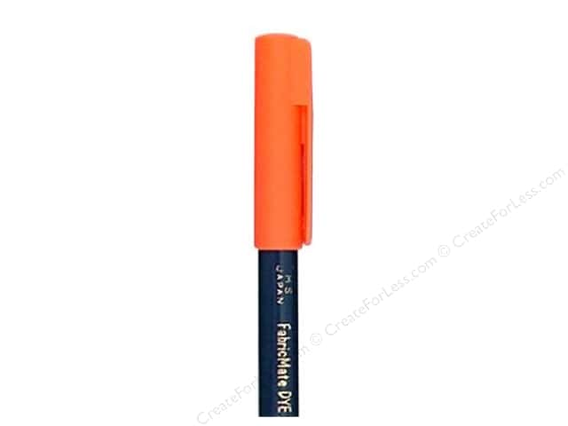 FabricMate Fabric Markers Brush Tip Short Barrel Fluorescent Orange (3 pieces)