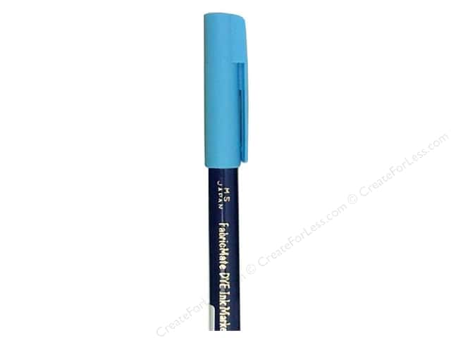 FabricMate Fabric Markers Brush Tip Short Barrel Sky Blue (3 pieces)