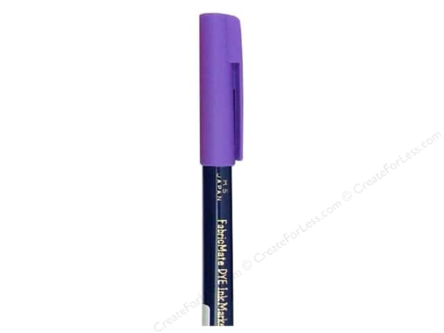 FabricMate Dye Markers Brush Tip Short Purple (3 pieces)
