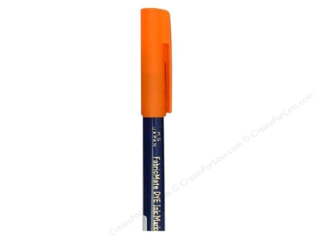 FabricMate Fabric Markers Brush Tip Short Barrel Orange