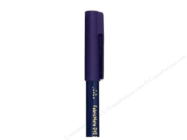 FabricMate Fabric Markers Brush Tip Short Barrel Midnight Blue