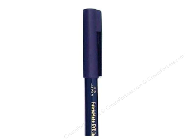 FabricMate Fabric Markers Brush Tip Short Barrel Blue (3 pieces)