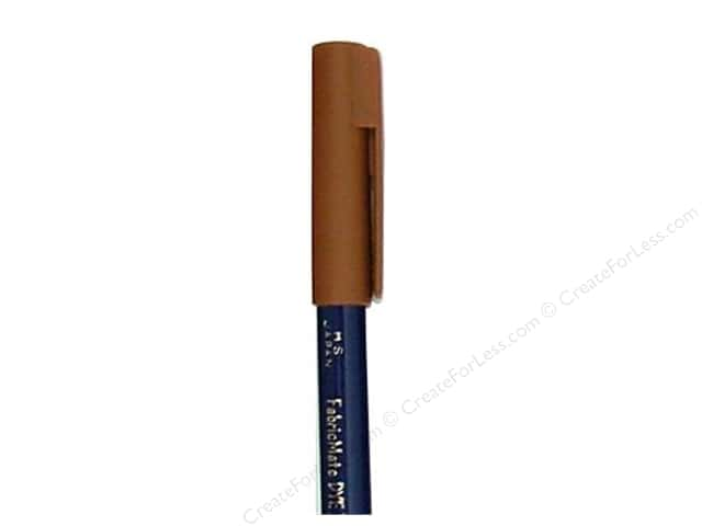 FabricMate Fabric Markers Brush Tip Short Barrel Brown (3 pieces)