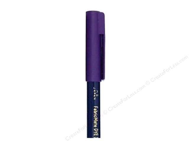 FabricMate Fabric Markers Brush Tip Short Barrel Violet