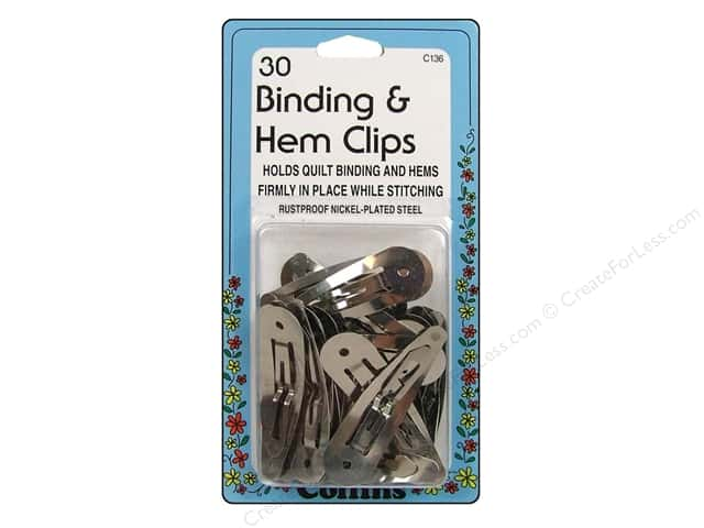 Binding & Hem Clips by Collins 30 pc.