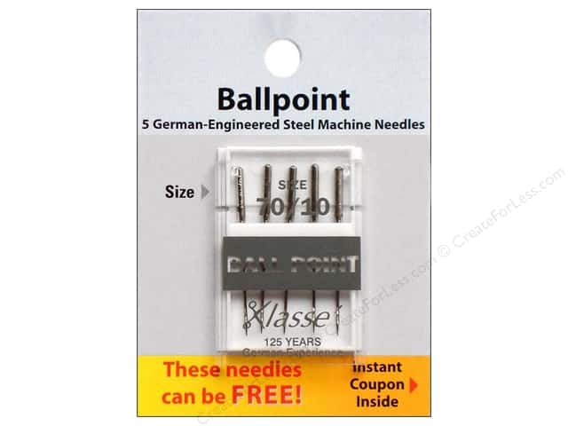 Klasse Ballpoint Machine Needles Size 70/10 5 pc.