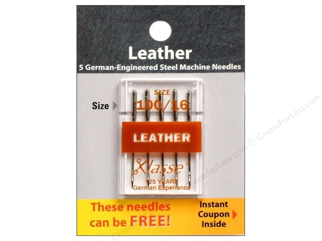 Klasse Leather Machine Needle Size 100/16 5 pc.
