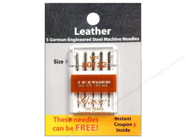 Klasse Leather Machine Needle Size 80/12 5 pc.