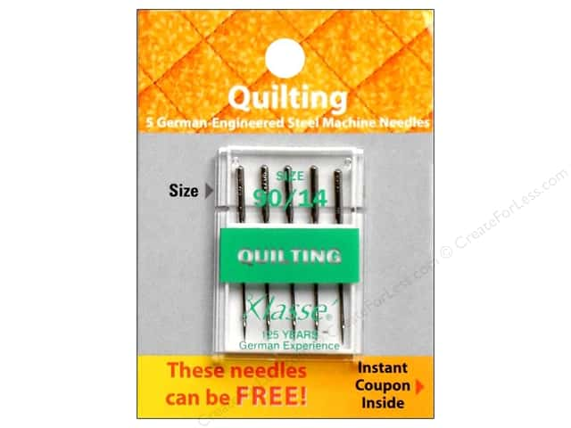 Klasse Quilting Machine Needle Size 90/14 5 pc.