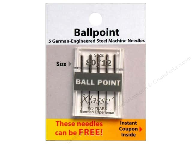 Klasse Ballpoint Machine Needles Size 80/12 5 pc.