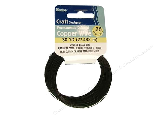 Darice Copper Craft Wire 26 ga. 30 yd. Black