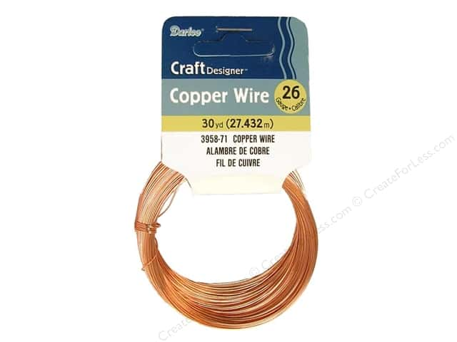 Darice Copper Craft Wire 26 ga. 30 yd. Copper