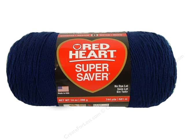 Red Heart Super Saver Jumbo Yarn 744 yd. #387 Soft Navy